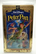 Disney Peter Pan Vhs Video Tape Clamshell 45th Limited Edition New Sealed Tblo
