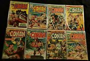 Conan The Barbarian Bronze Age Marvel Comic Lot Of 8 Books Sleeved And Backed