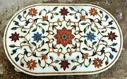 36 X 48 Inches Marble Table Inlay Office Table Top With Cottage Art And Crafts