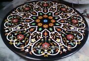 Black Marble Inlay Table Top Gemstones Dinning Table Home Decorative Furniture