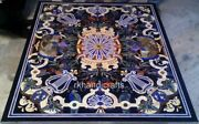 Rectangle Marble Office Table Top Pietra Dura Art Dinning Table Intricate Work