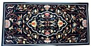 30 X 60 Inches Marble Conference Table Top Marquetry Art Coffee Table Inlay Work