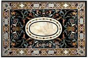 Marquetry Art Coffee Table Top Marble Meeting Table Size For Home 36 X 60 Inches