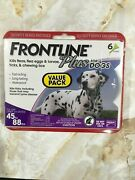 Frontline Plus Purple For Large Dogs 45 To 88 Lbs, 6 Month Supply,  8206 Read