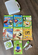 Leap Frog Tag Lot - Reader/pen Cd/usb Cable And 6 Tag Books Euc
