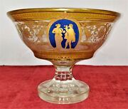 Large Table Center. Crystal Carved And Enamelled. Baccarat. France. Xix