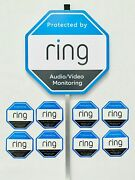 Home Ring Security Yard Sign 8 Double Sided Window/door Sticker W/ Aluminum Pole