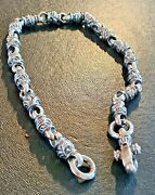 Leonard Kamhout / Lone Ones - 223g Solid 925 Usa Silver Necklace/choker - Rare