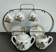 Childs Tea Set Floral Porcelain China W/ Stand Occupied Japan Mix And Match - Read