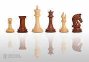 The Imperial Collector Luxury Chess Pieces - 4.4 King - Mopane And Natural Boxw