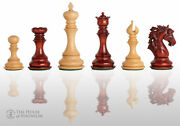 The Novara Luxury Chess Set - Pieces Only - 4.4 King - Blood Rosewood