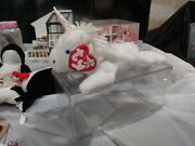Rare Mystic The Unicorn Beanie Baby W/white Star In Hang Tag