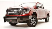 Fab Fours Black Steel Front Bumper - No Guard For 2016-2019 Nissan Titan Xd