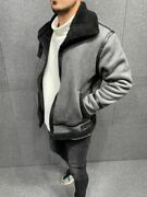 3 Color Leather Postal-shearling Style Menand039s Coats -streetwear Menand039s Jacket Sale