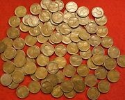 1923-s Lincoln Wheat Cent Penny 25 Coin 1/2 Roll G-vf Coins