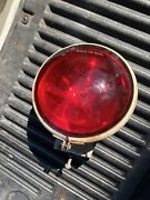 Rare Vintage Emergency Light Lamp Federal L-1 Red Glass Early Fire 6 Volt