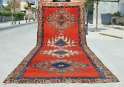 5x13 Rughand Knotted Area Rug Turkish Tribal Large Runner Rug Pink 4andprime11andprimex12andprime11andprime