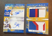 2020 Panini Origins Jake Fromm And Zack Moss Rookie Dual Sign. Gold Booklet /10