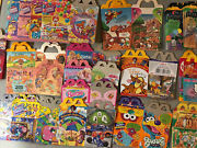 Vintage Mcdonalds Happy Meal Boxes Lot Of 200+ W/ Toys And Fry Box 1980-2000andrsquos