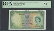 Rhodesia And Nyasaland One Pound 5-12-1960 P21bs Specimen About Uncirculated