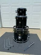 Yamaha Tour Custom Maple 3pc Drum Shell Pack With Drum Cases