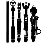 Dr Who The Doctors Sonic Screwdriver Set Whovian Die Cut Vinyl Car Decal Sticker