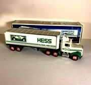 Hess Truck 18 Wheeler And Racer Car New In Box L01 Never Played With Toy 1992