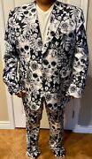 Loudmouth Brand Menand039s Suit Pants And Sports Coat Skull Goth Dia De Los Muertos