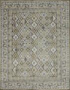 8'x10' Rug | Modern Luxury Hand Knotted Wool And Bamboo Silk Beige-beige Area Rug
