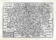 Original Antique Map Of Bohemia In The Czech Republic By P. Kaerius From 1650