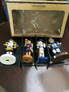 10th Anniversary Nutcracker Village Collection Sport Ornaments Set Of 4 May Dept