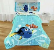 Disney Pixar Finding Dory 72 X 86 Fits Twin Or Full Bed Reversible Comforter