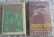 2 Golf Books W/dust Covers Both In Nice Used Condition-1 Very Old Dust Cover