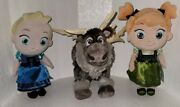 Lot Baby Anna And Elsa Plush With Tags And Sven Frozen Bendable Reindeer Plush Toys