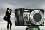 Panasonic Dmc-zs3/tz7 Black Mechanically Reconditioned-12x Zoom Easy To Hold