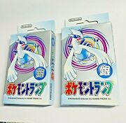 2x 1999 Pokemon Poker Cards Silver Lugia Sealed Playing Nintendo Usa Seller