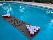 Foam Floating Beer Pong Table, Play Beer Pong In The Pool, 4+ Designs Available