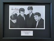 Pete Best Hand Signed Photo In 16x12 Frame Display, The Beatles, 1