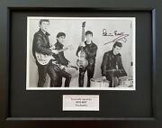 Pete Best Hand Signed Photo In 16x12 Frame Display, The Beatles, 2