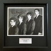 Pete Best Genuine Hand Signed The Beatles Photo In 14x11 Frame Display
