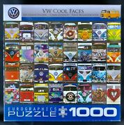 Eurographics Vw Cool Faces Jigsaw Puzzle 1000 Piece Nib New Sealed