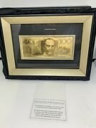 Australian Replica 100 Note In 24 Carat Gold Framed With Box