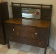 Antique Mission Oak Arts And Crafts Limbert Stickley Sideboard Buffet
