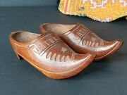 Old Carved Wooden Miniature Shoes From Holland …beautiful Collection And Display I