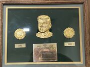John F Kennedy 1000 Days Of Presidency Commemorative Coins And Plaque - Apr 1k