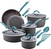 Rachael Ray Cucina Cookware Pots And Pans Set12-pcs. Hard Anodized Nonstick New