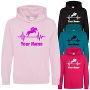 Childs Horse Hoodie Equestrian Hoody Printed Childs Adults Birthday Xmas Gift