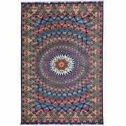 Hand-knotted Afghan Tribal Peacock Design 100 Wool Rug 6.7 X 9.6 Cwral-7293