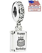 New Authentic Pandora Sterling Silver S925 Ale Birthday Card Dangle Charm