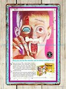 Artwork Bedroom Walls Fright Factory Toy Vintage Ad 1967 Metal Tin Sign
